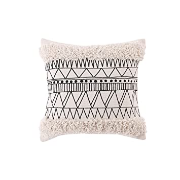 Amazon.com: Ojia - Fundas de almohada reversibles de algodón ...
