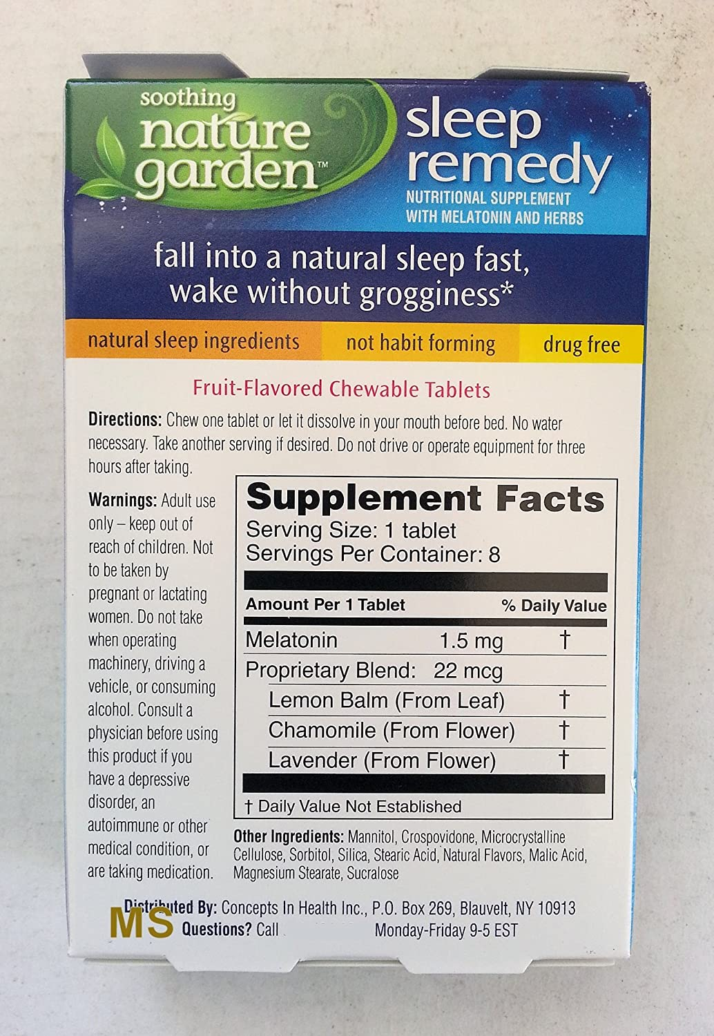 Amazon.com: Soothing Nature Garden - Sleep Remedy Fruit Flavored Chewable Tablets (Pack of 2): Health & Personal Care