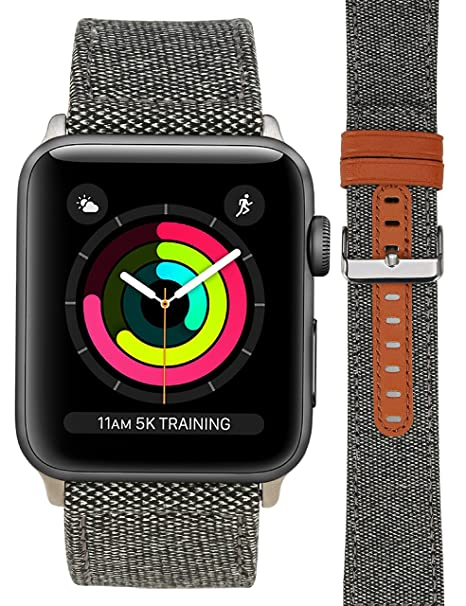 For Apple Watch Band, Smart Watch Band for Men/Womens Models Loop Fabric Canvas Woven Camo Bracelet Wrist Strap with Metal Clasp Adapter for Series ...