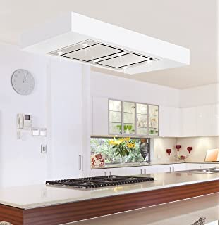 orion t2 100cm designer stainless steel ceiling extractor hood with motor 1400m3h