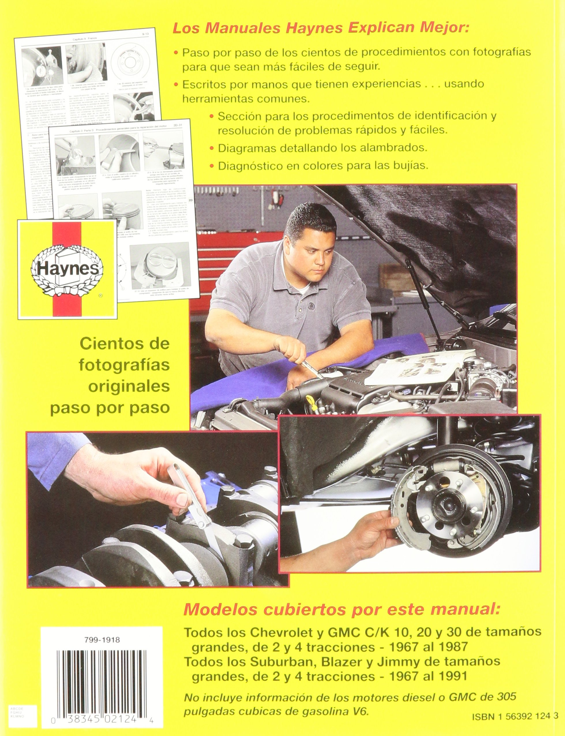 Chevrolet Pickup & Blazer, 6791 (Spanish) (Haynes Repair Manuals): John Haynes: 9781563921247: Amazon.com: Books