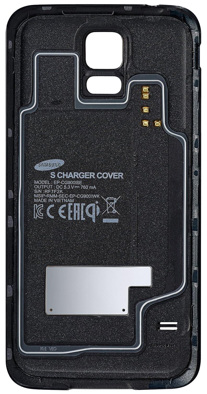 Samsung S - Carcasa de carga inalámbrica para Galaxy S5, Negro