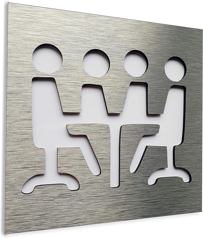 Indoor /& Outdoor Office wall art plaque Placa de pared de oficina Se/ñal de puerta de sala de conferencias Sign for business Aluminium Conference Room door sign