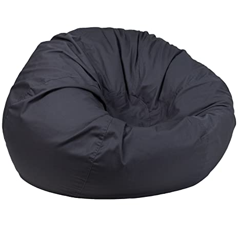 Prime Amazon Com Oversized Solid Gray Bean Bag Chair Industrial Beatyapartments Chair Design Images Beatyapartmentscom