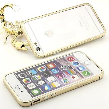 iPhone6/6S - Carcasa Aluminio con parte trasera Transparente ...