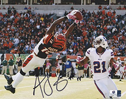 11bba93be A. J. Green Signed Cincinnati Bengals 8x10 Photo at Amazon s Sports ...