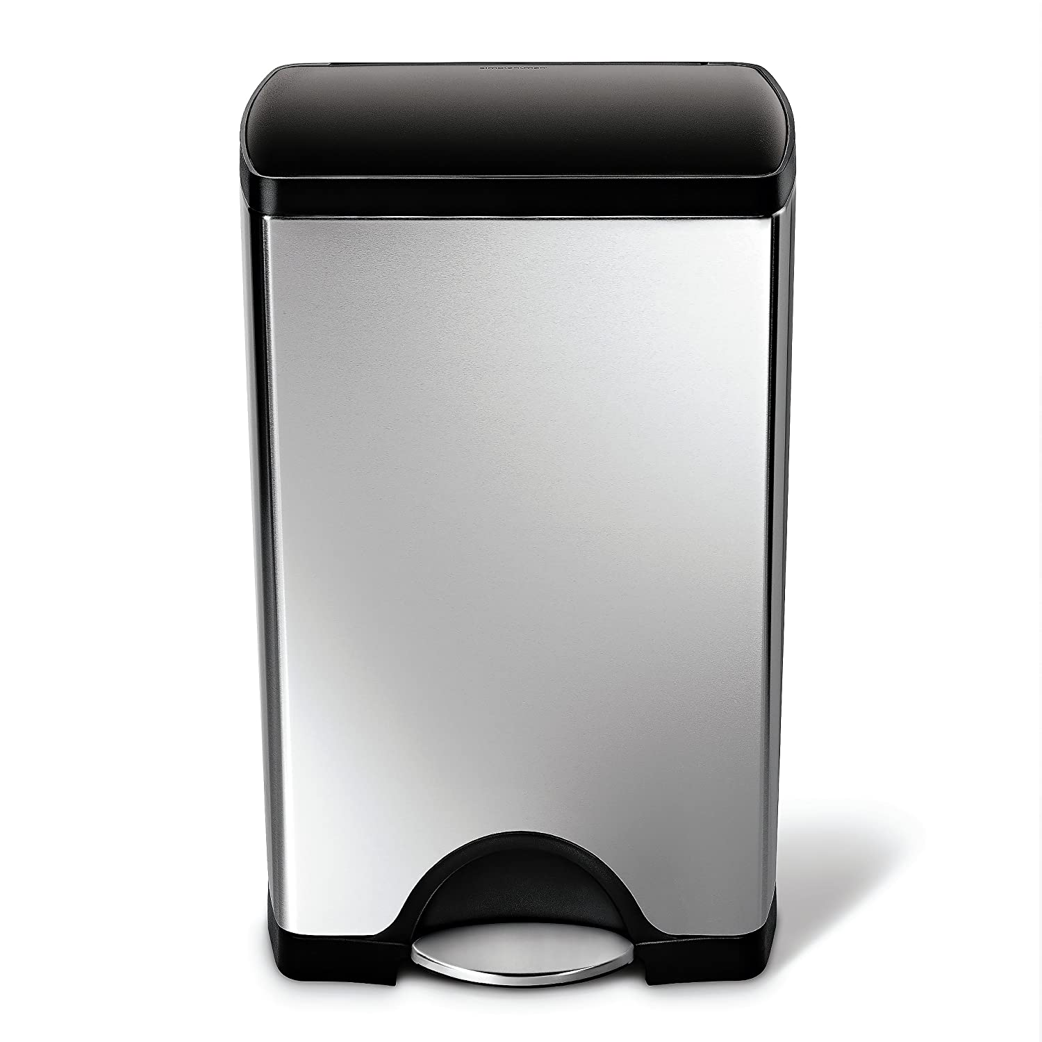 Bon Amazon.com: Simplehuman Rectangular Step Trash Can, Stainless Steel,  Plastic Lid, 38 L / 10 Gal: Home U0026 Kitchen