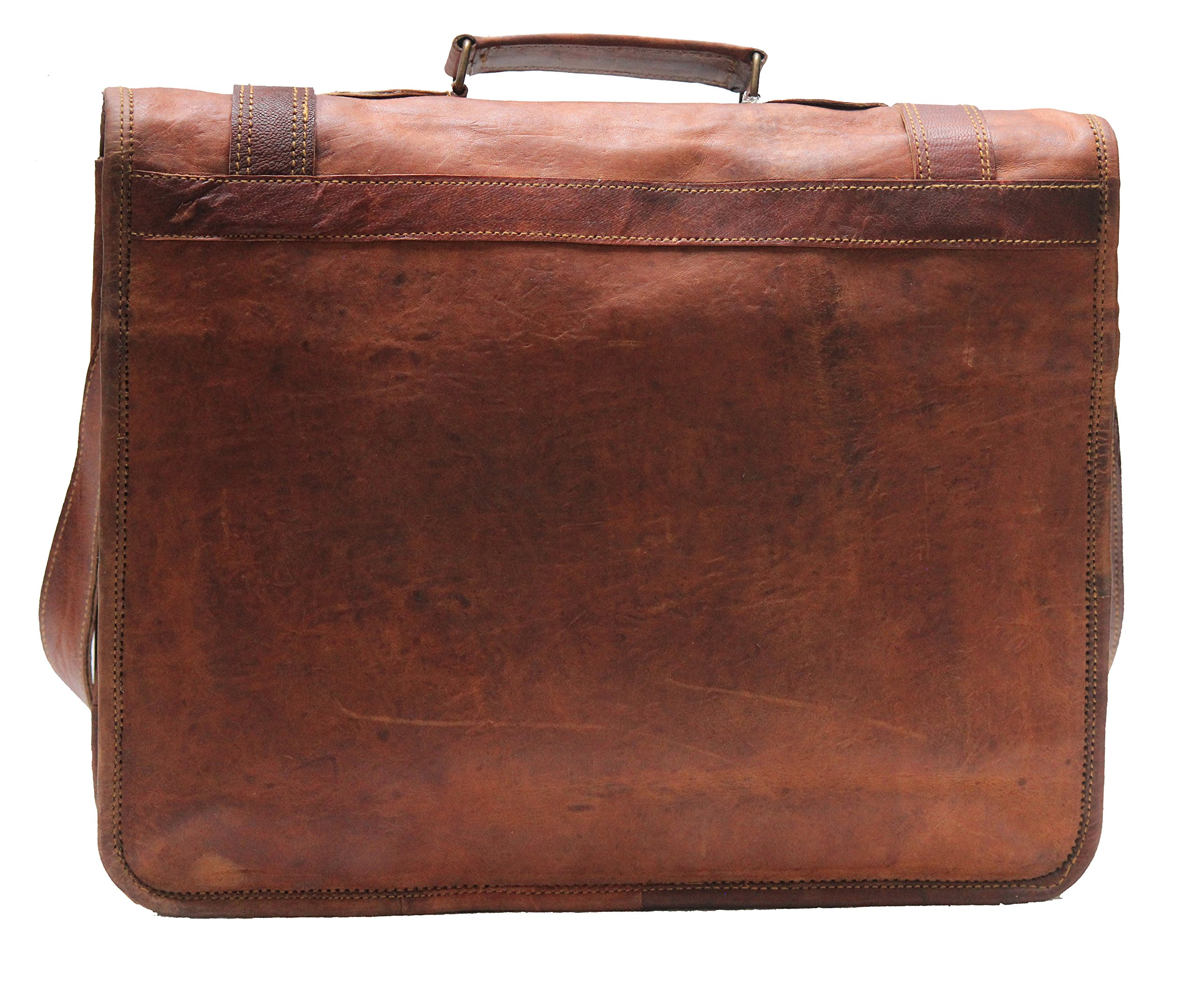 45367ef48a50 Leather Messenger Bags for Men Women Mens Briefcase Laptop Bag Best  Computer Shoulder Satchel School Distressed Bag