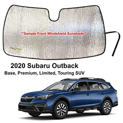 YelloPro Custom Fit Automotive Reflective Front Windshield Sunshade Accessories UV Reflector Sun Protection for 2020 Subaru Outback Base, Premium, Limited, Touring SUV: Automotive