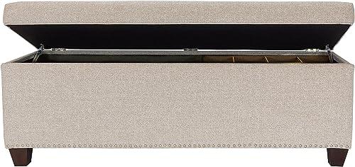 MJL Furniture Designs Bedroom Storage Bench Camel