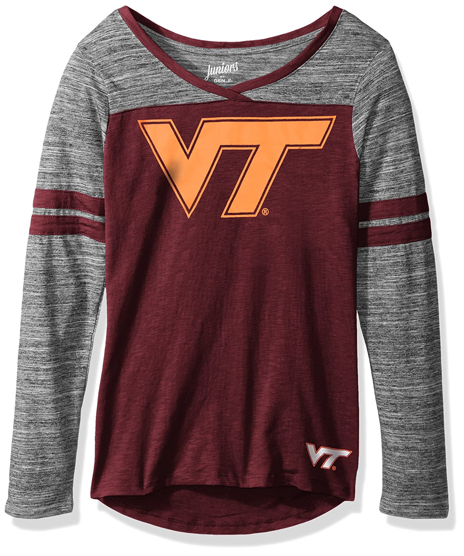 NCAA Virginia Tech Hokies Juniors Outerstuff Secret Fan Long Sleeve Football Tee X-Small Team Color 0-1