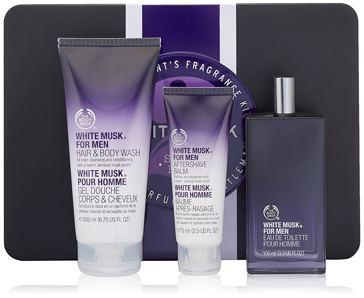 & Amazon.com : The Body Shop White Musk for Men Gift Set : Beauty