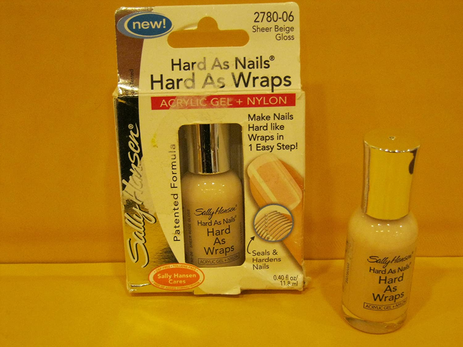 Sally Hansen Hard As Nails Hard As Wraps Nail Harderner - Sheer Beige Gloss - 0.4 oz