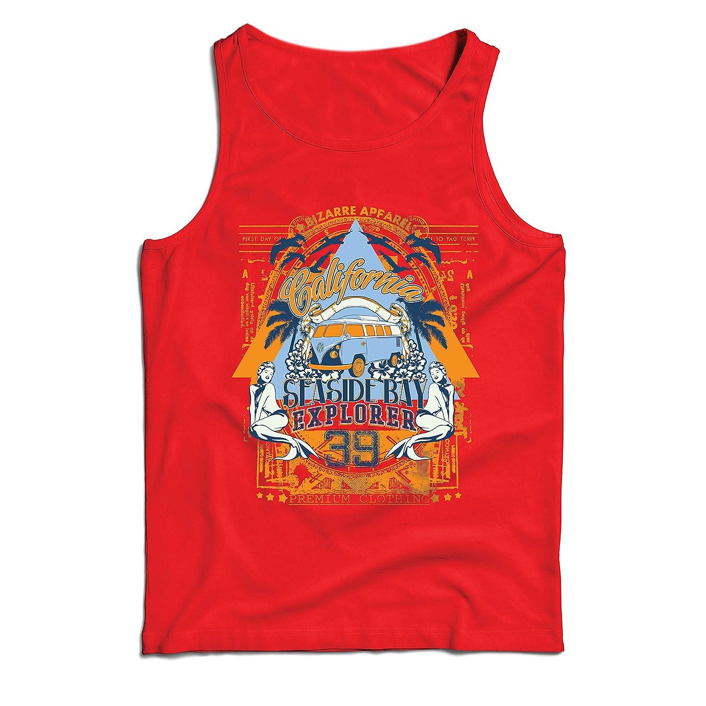 lepni.me Camisetas de Tirantes para Hombre Primer Día de California - Explorador de la Bahía Costera - Ropa de Surf: Amazon.es: Ropa y accesorios