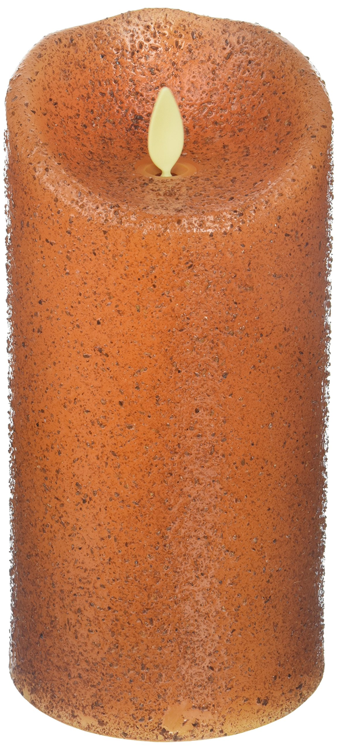 Luminara Primitive Flameless Candle: Unscented Moving Flame Candle with Timer (7'' Yam Country) by CWI Gifts (Image #1)
