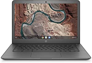 HP Chromebook 14-inch Laptop with 180-Degree Swivel, AMD Dual-Core A4-9120 Processor, 4 GB SDRAM, 32 GB eMMC Storage, Chrome OS (14-db0020nr, Chalkboard Gray) (Renewed)