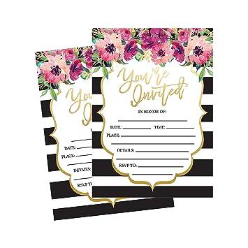 50 fill in invitations wedding invitations bridal shower invitations rehearsal dinner dinner