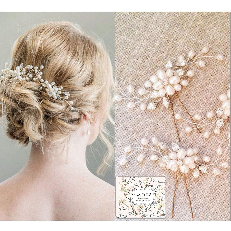 Bridal Hair Pins 3pcs Fashion Retro Elegant Ladies Pearl Rhinestone Hair Accessories For Wedding Bridal Jewelry Bridal Hair Accessories Headpiece