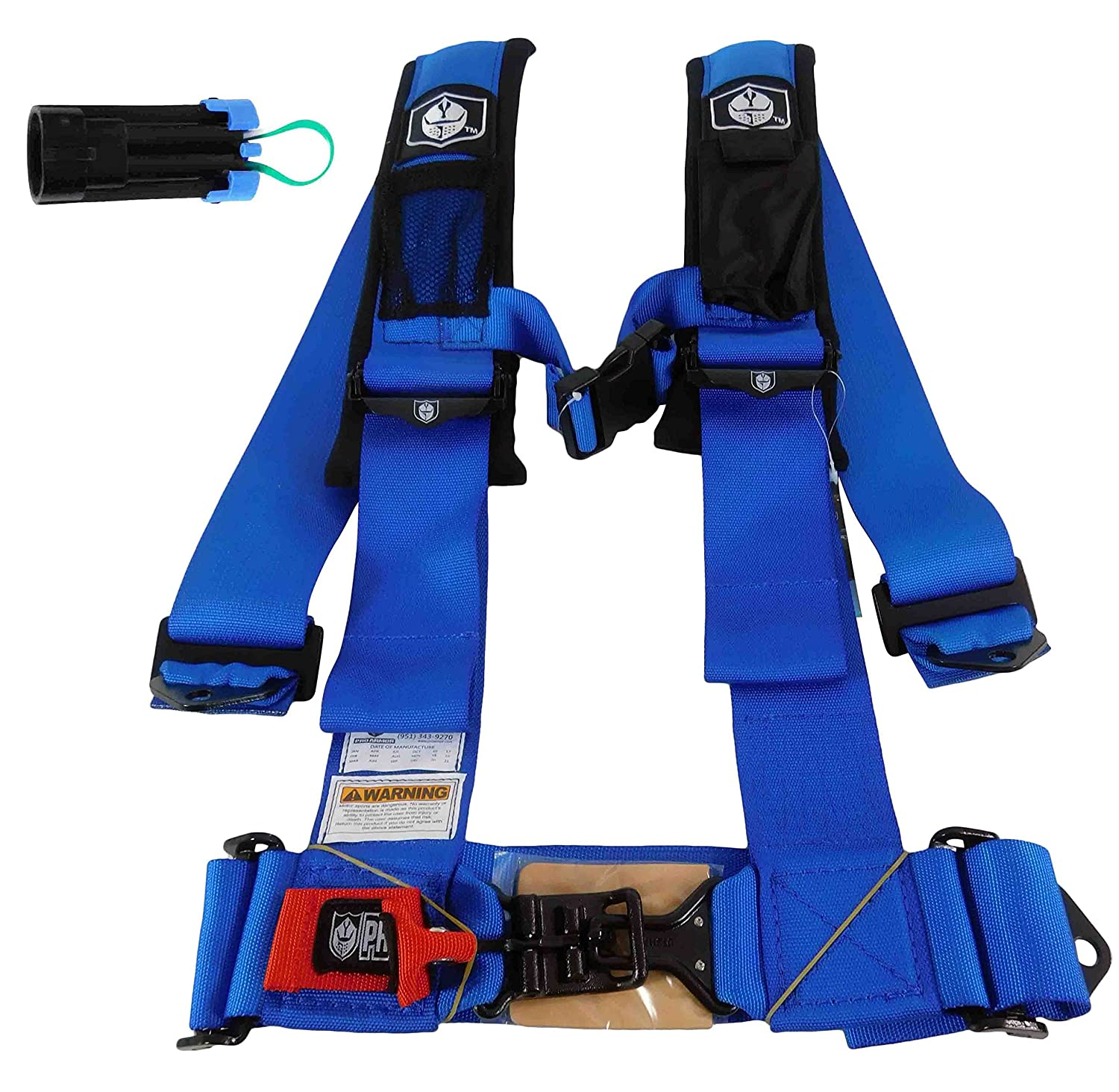 "Pro Armor # A114220VB VooDoo Blue 4 Point 2/"" Harness w// Sewn in Pads"