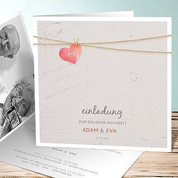 Einladungskarten Goldene Hochzeit Vorlagen Liebesfaden 10