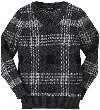9966162eeb963 Amazon.com: E-Land Kids Little Boys' Plaid Sweater (Toddler/Kid ...