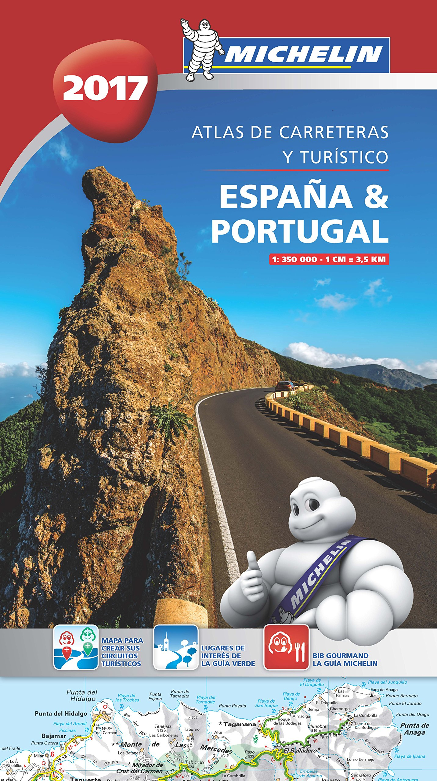España & Portugal 2017 Atlas de carreteras y turístico Atlas de carreteras Michelin: Amazon.es: MICHELIN: Libros