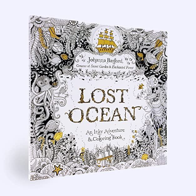 Lost Ocean An Inky Adventure And Coloring Book For Adults Johanna Basford Amazoncouk Kitchen Home