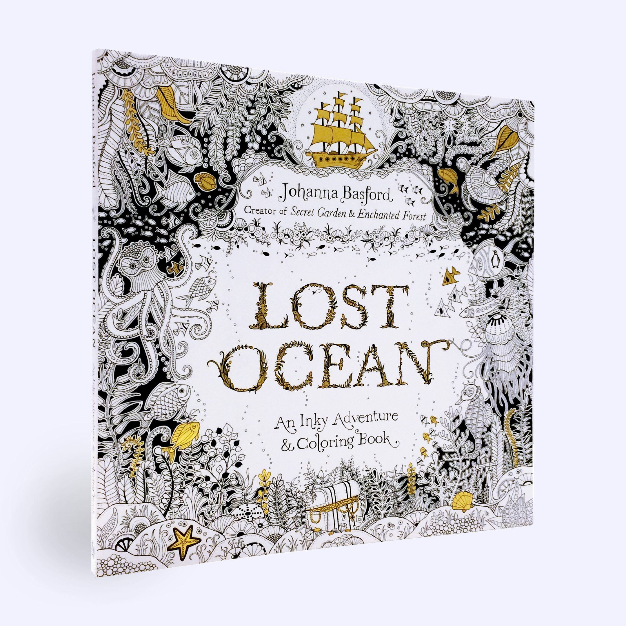 Zen ocean colouring book - Amazon Com Lost Ocean An Inky Adventure And Coloring Book For Adults 9780143108993 Johanna Basford Books