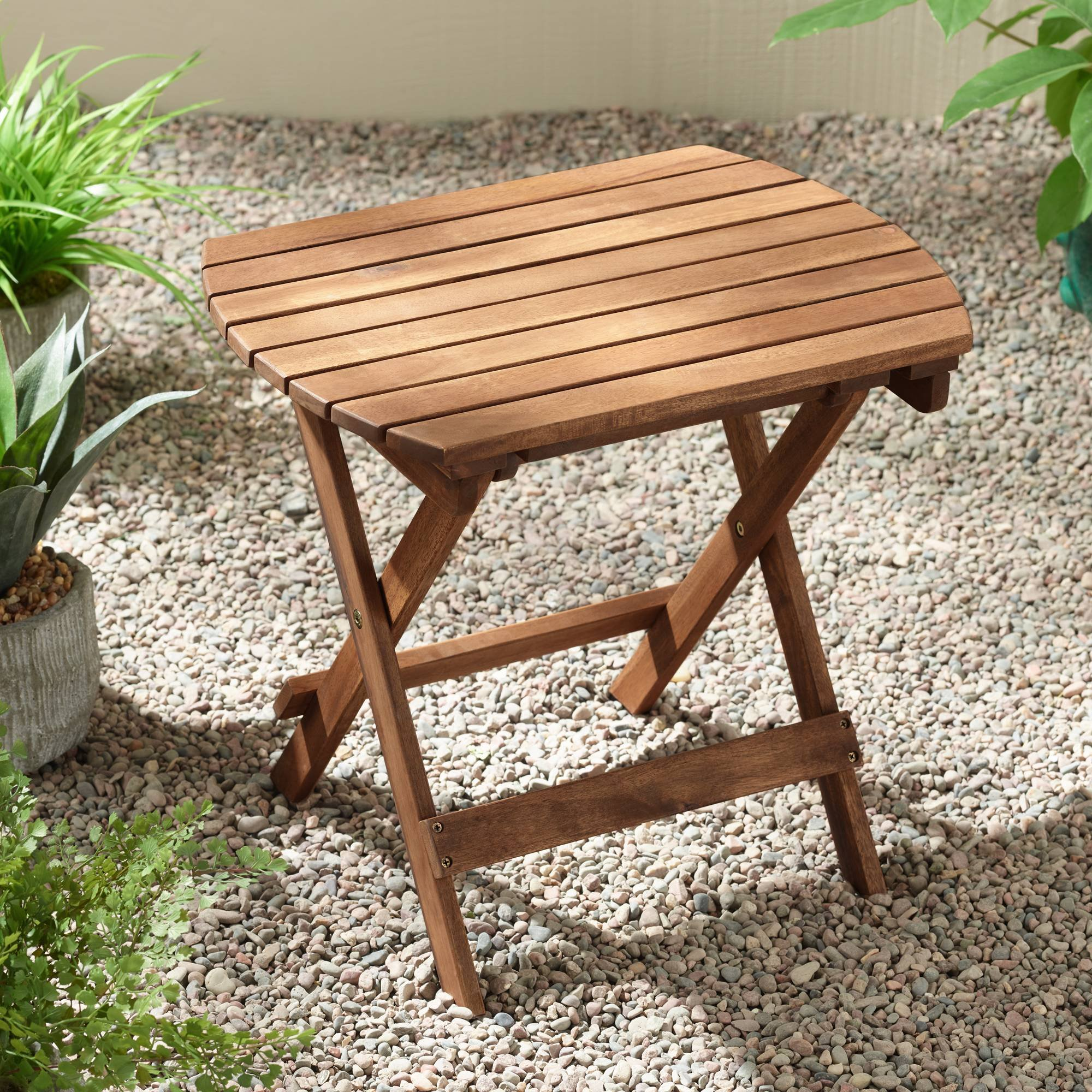 Teal Island Designs Monterey Natural Wood Outdoor Side Table by Teal Island Designs