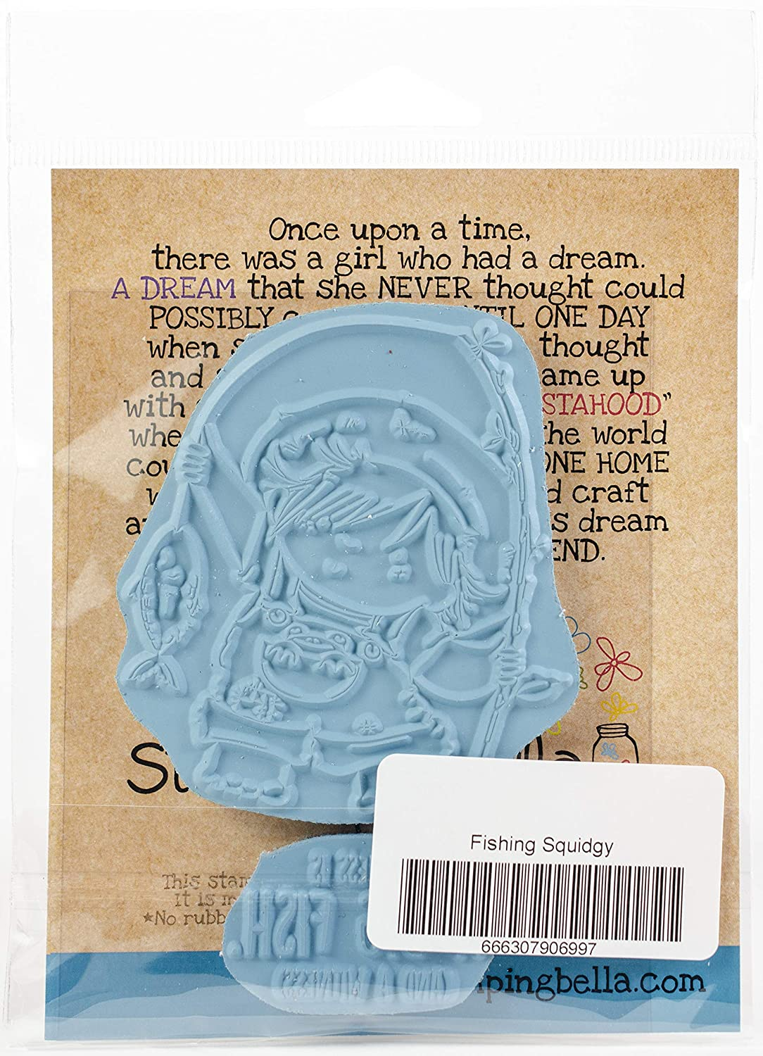 Football Squidgy Stamping Bella EB699 Cling Stamps