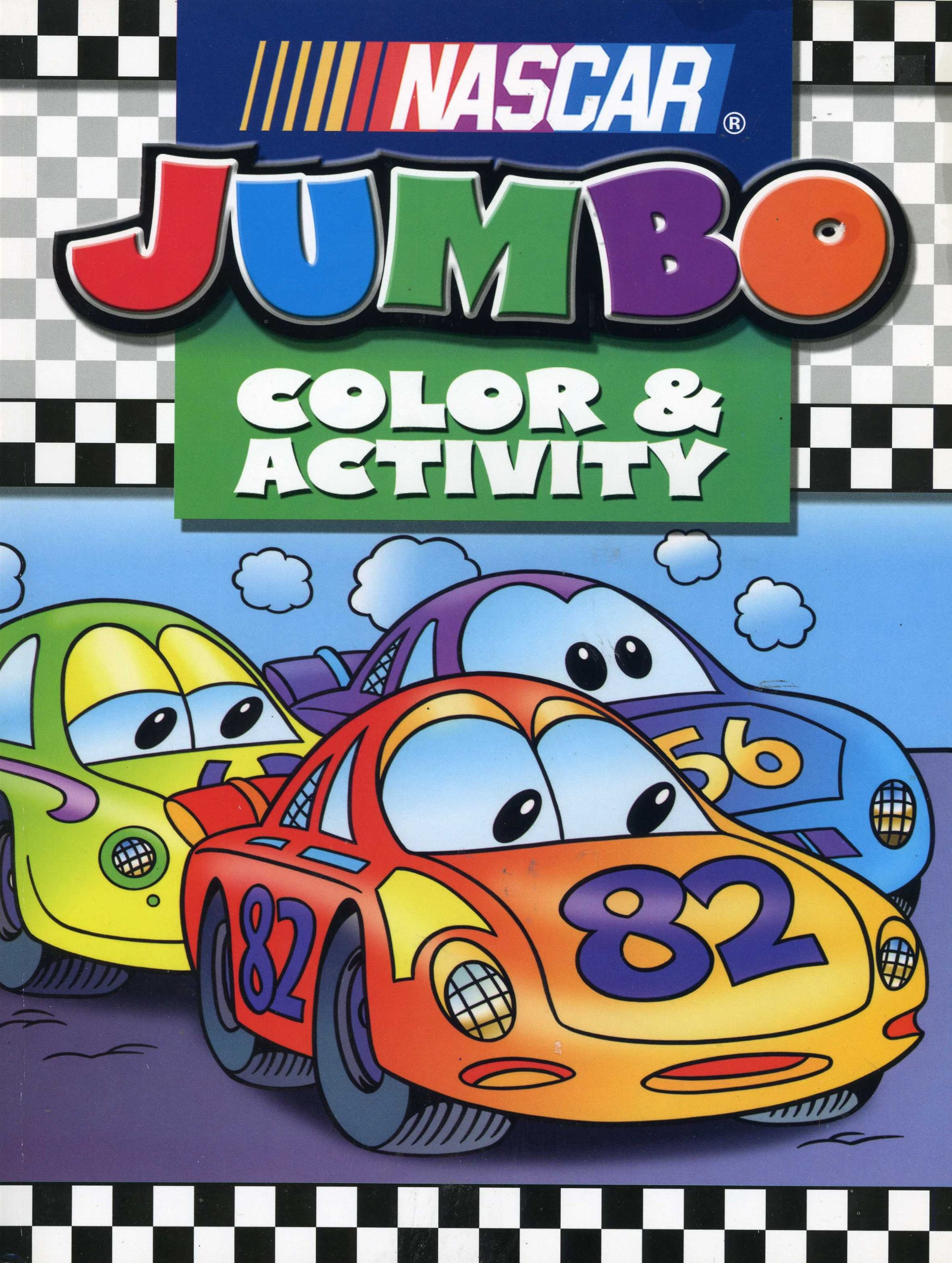 Download Nascar Kids Jumbo Coloring & Activity pdf