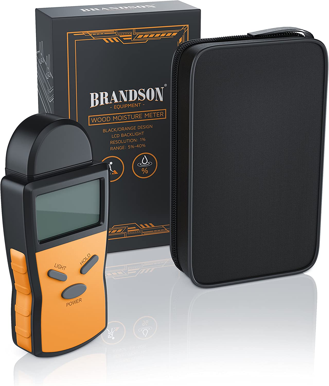 retroiluminaci/ón de la pantalla incl. Detector de humedad Medidor de humedad para madera Higr/ómetro digital