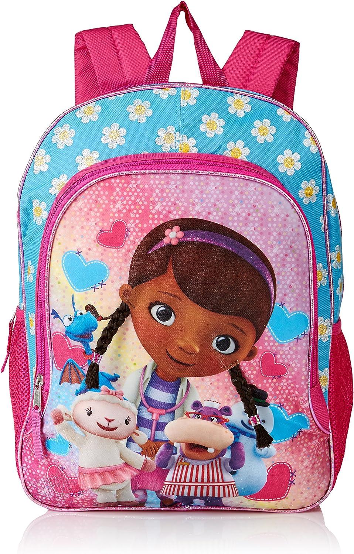 Disney Girls Doc McStuffins Backpack  Light Blue Pink