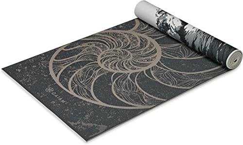 Gaiam Yoga Mat – Premium 6mm Print Reversible Extra Thick Non Slip Exercise Fitness Mat for All Types of Yoga, Pilates Floor Workouts 68 x 24 x 6mm Thick