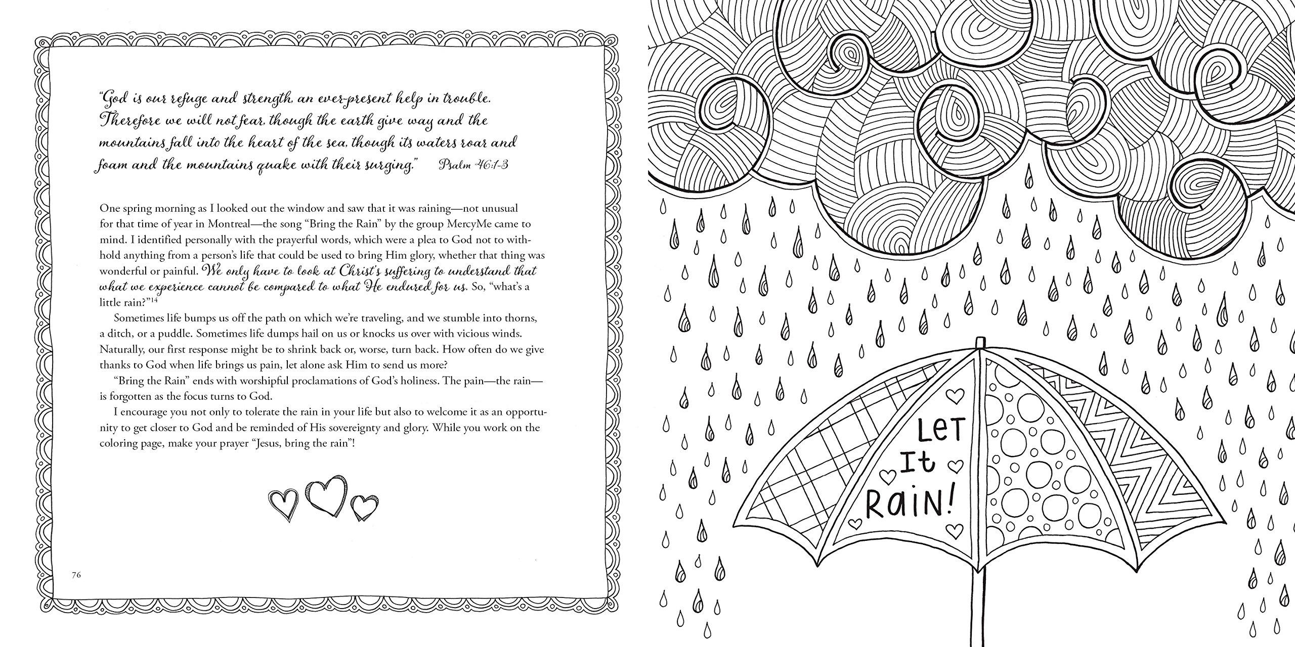 amazon com restore my soul a coloring book devotional journey