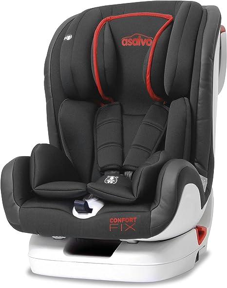 Asalvo, Silla de coche grupo 1/2/3 Isofix, rojo: Amazon.es: Bebé