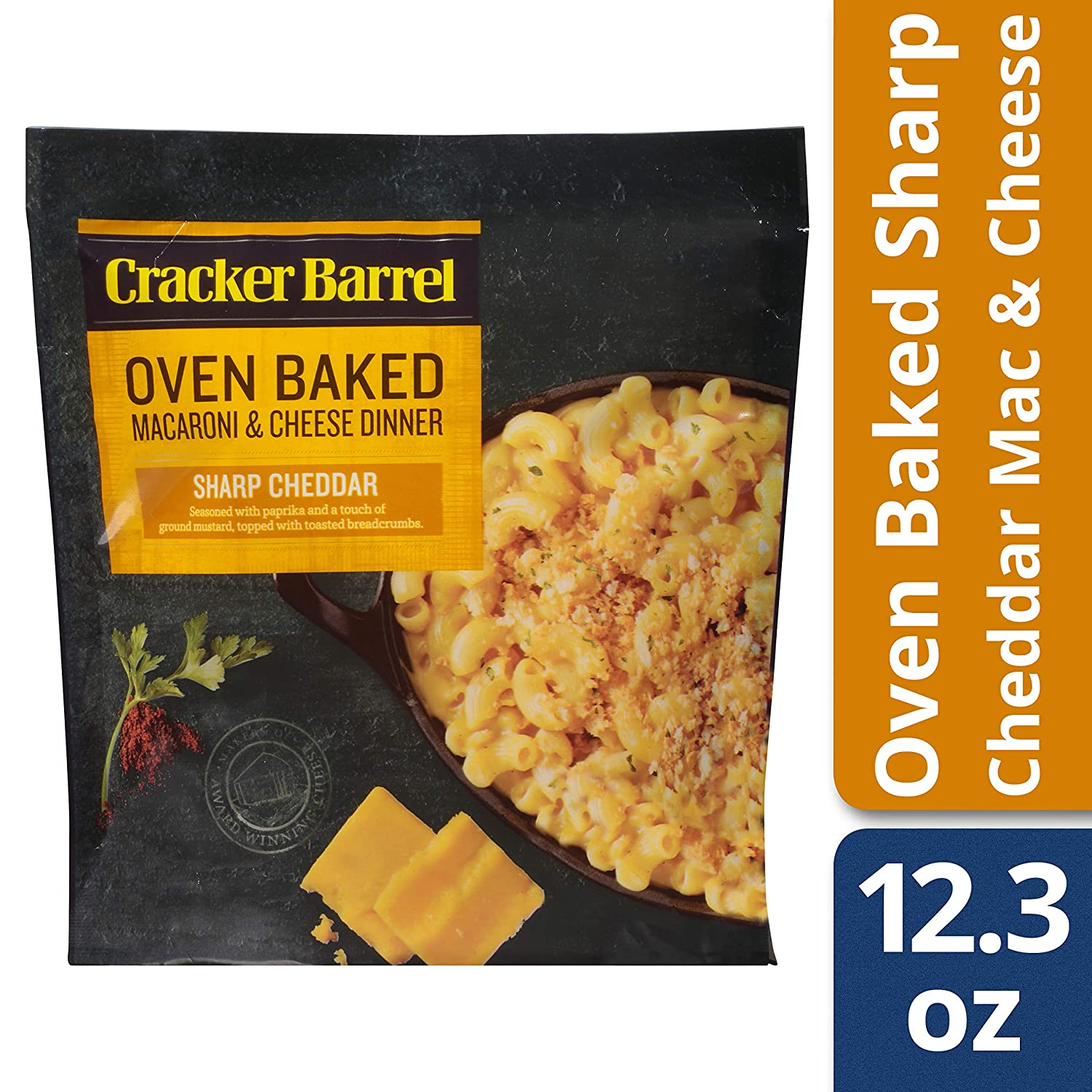 Cracker Barrel Oven Baked Sharp Cheddar Macaroni and Cheese Dinner, 12.3 oz Pouch