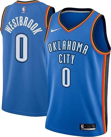 NIKE OKC M Nk Swgmn JSY Road - Camiseta 2ª Equipación Oklahoma City Thunder 17-18 de Baloncesto Hombre: Amazon.es: Ropa y accesorios