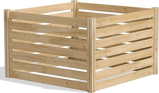 Amazon.com: Greenes. Compostera de madera de cedro., Talla ...