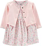 Carter's Baby Girls' 2-Piece Floral Bodysuit Dress & Cardigan Set