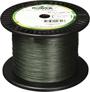Power Pro Spectra Fiber Braided Fishing Line, Moss Green, 1500YD/65LB