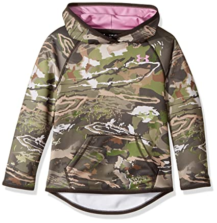 pink and camo under armour hoodie