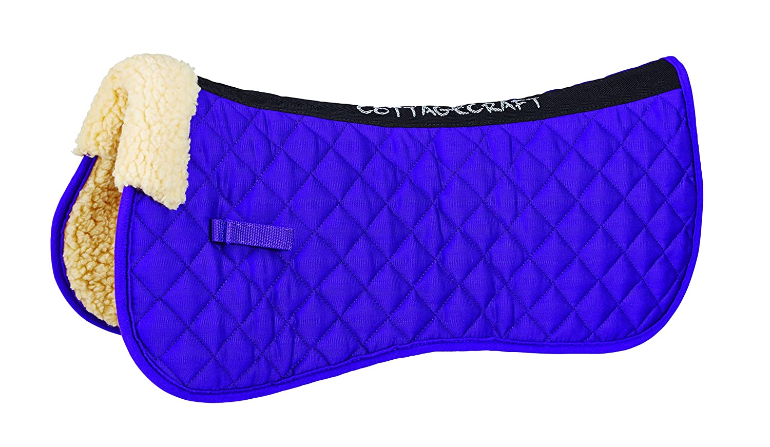 Cottage Craft Synthetic Fleece Lined Full Half Pad - Purple