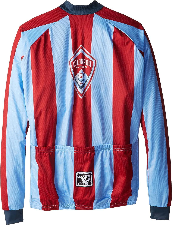MLS Colorado Rapids Mens Striped Long Sleeve Vomax Jersey