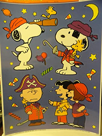 snoopy halloween window clings - Halloween Window Clings