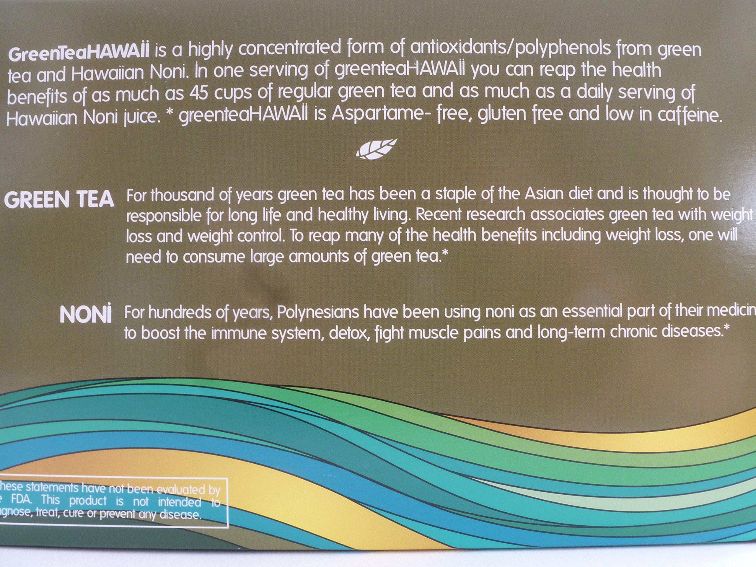 Green Tea Hawaii (Variety Pack) Powder with Noni, 60 Packets, 540 mg of Antioxidants/Polyphenols, All Natural by greenteaHAWAII (Image #2)