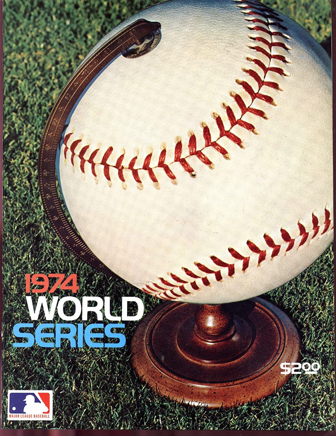 1974 World Series Program Oakland Athletics A's Los Angeles Dodgers PLUS INSERT