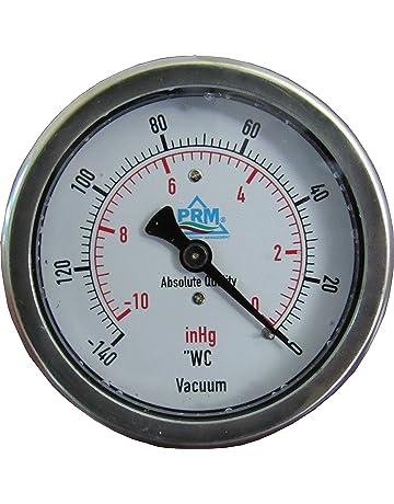 PRM 2.5 Inch Vacuum Gauge, 0 to -140