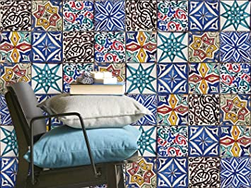 Fliesenaufkleber Fliesendeko   CREATISTO Klebefliesen Fliesen Mosaik |  Fliesen Folie Bad Selbstklebend Sticker Aufkleber