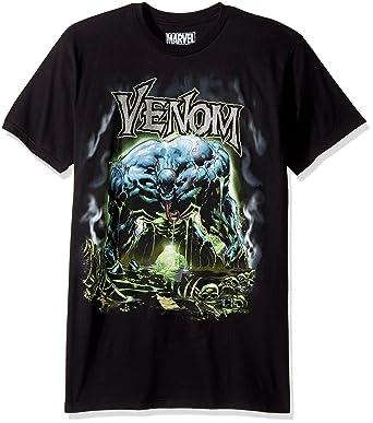 47fa3e7d54a10f Amazon.com: Marvel Men's Spider-Man Venom Shimmer T-Shirt, Black, Small:  Clothing
